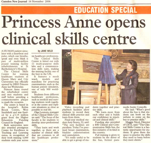 Princess Anne opening CETL